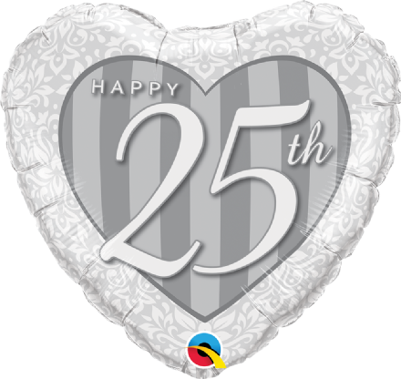 25th Anniversary Foil Helium Balloon